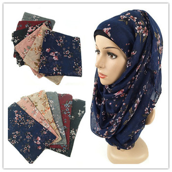 Floral Print Cotton Hijab scarf For Women Muslim Long Headscarf Voile Femme Musulman Malaysia Hijab Foulard Muslim Scarf Wraps casual poppy print voile scarf