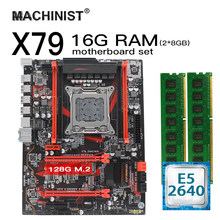 X79 Papan Utama LGA 2011 Set Kit dengan Intel Xeon E5 2640 Prosesor 16G(2*8G) DDR3 ECC Memori X79 GAMING8 ATX NVME M.2 128GB SSD(China)