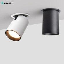 DBF foco LED plegable para sala de estar, luz LED empotrable de techo, 7W, 12W, Fondo de TV, pasillo de pared, luz COB para techo