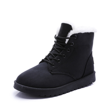 Women Boots Winter Warm Snow Boots Women Faux Suede Ankle Boots For Female Winter Shoes Plush Shoes Woman  boots women hee grand platform winter warm women ankle boots pointed toe shoes women lace up solid faux suede ankle boots shoes xwx6760