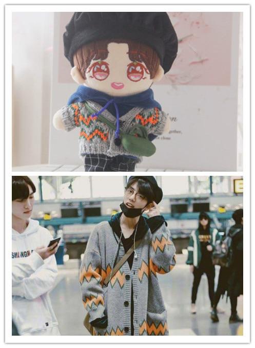 Кукла Шон Сяо Чжан, кукла в форме тела, детская одежда, кукла со звездами, можно менять одежду, плюшевая игрушка для девочек, 20 см