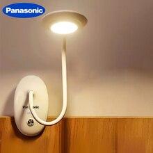 Panasonic klip masa lambası LED dokunmatik anahtarı 3 modları göz koruması masa ışık Dimmer USB şarj edilebilir Led masa lambası