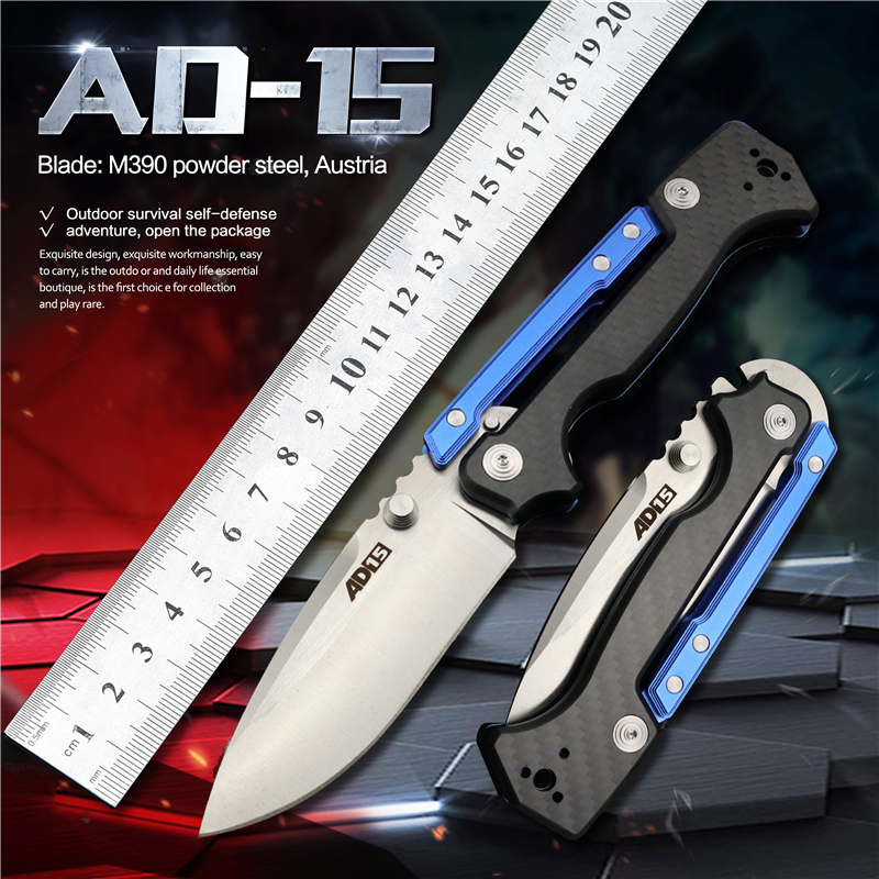 AD15 Folding Knife Pocket Knives Hunting for Survival Tactical Military EDC Tool Outdoor Camping Self Defense Ball Bearing Knife