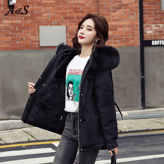 Фото женская зимняя теплая куртка anbenser модное облегающее пальто цена