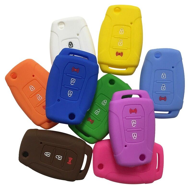 silica gel case car key cover for Ssangyong Rexton Korando C Tivoli covers for car keys remote control remote key holder cover(China)