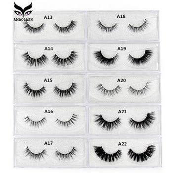 AMAOLASH Eyelashes 3D Mink Lashes Long Lasting Natural Volume Eyelash Extension False Makeup