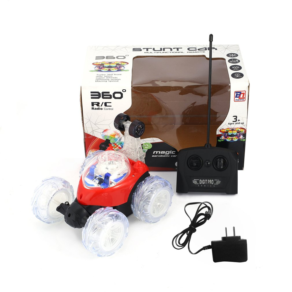 Hot! OCDAY Mini RC Toy Car With Remote Control Stunt Car Radio Electric Dancing Drift Model Rotating Wheel Vehicle Motor RC Toys