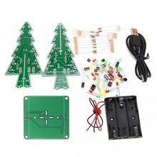7 Color Flash Christmas Tree Parts Kit Diy LED 3D Christmas Tree Circuit Board Module With Led Lights Self-locking Switch цена 2017