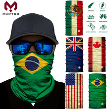 3D Bendera Nasional Mulus Motor Magic Wajah Topeng Motocross Ski Naik Syal Tubular Leher Guard Balaclava Bandana Anti Sinar UV(China)