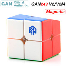 GAN 249 v2 M Magnetic 2x2x2 Magic Cube 2x2 GAN249 Cubo Magico Professional Speed Puzzle Antistress Fidget Toys For Children