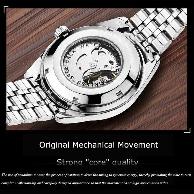 Self Winding Mechanical Luminous Business Casual Watch 6