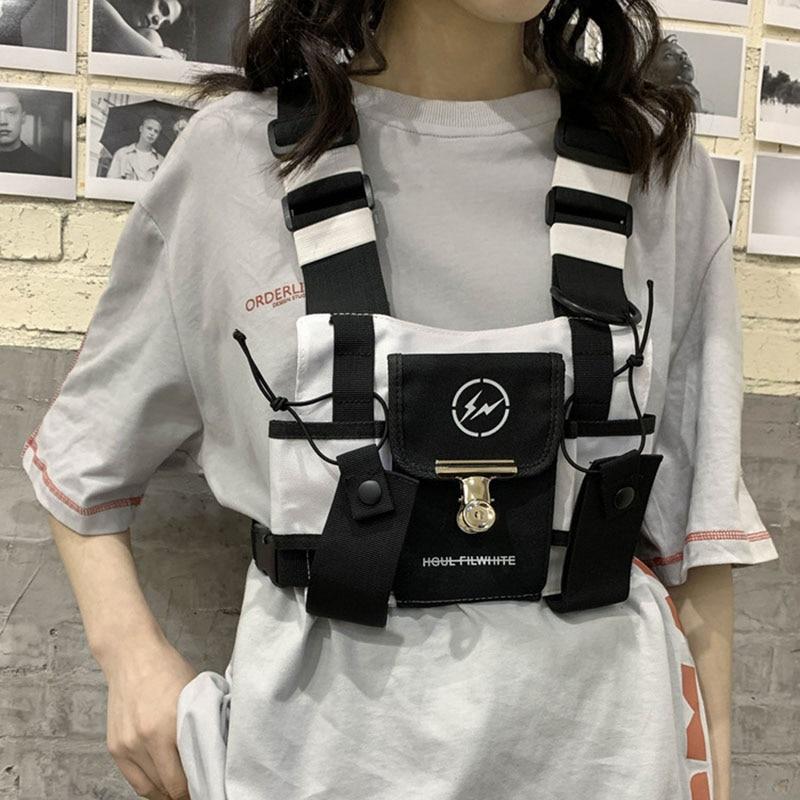 Tide Cool Women Chest Rig Bag Tactical Chest Bags For Men Fashion Bullet Hip Hop Vest Streetwear Bag Function Tactics Waist Pack