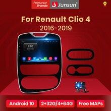 Junsun V1 Android 10,0 DSP CarPlay автомобильный Радио мультимедийный видеоплеер Авто Радио Стерео GPS для Renault Clio 4 2016 - 2019 2 Дина dvd