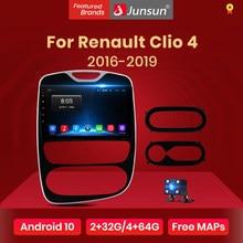 Junsun V1 Android 10.0 DSP CarPlay radioodtwarzacz samochodowy multimedialny odtwarzacz wideo Auto Stereo GPS dla Renault Clio 4 2016 - 2019 2 din dvd