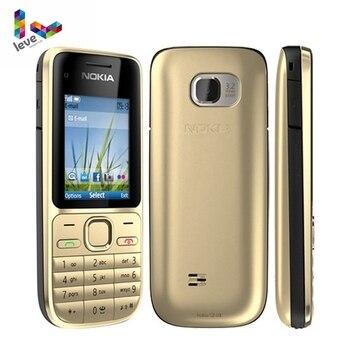 Перейти на Алиэкспресс и купить Разблокированный Мобильный телефон Nokia C2, GSM, мобильный телефон, английская, Арабская, иврит, русская клавиатура, оригинальные б/у мобильные ...