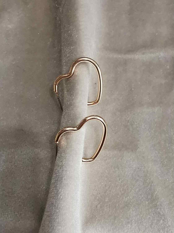 ייחודי מגזרת גיאוגרפי הרבעה עגיל לב Stud עגילי Sweety מסיבת אלגנטיות למעלה מתנות טרנדי תכשיטי מכירה