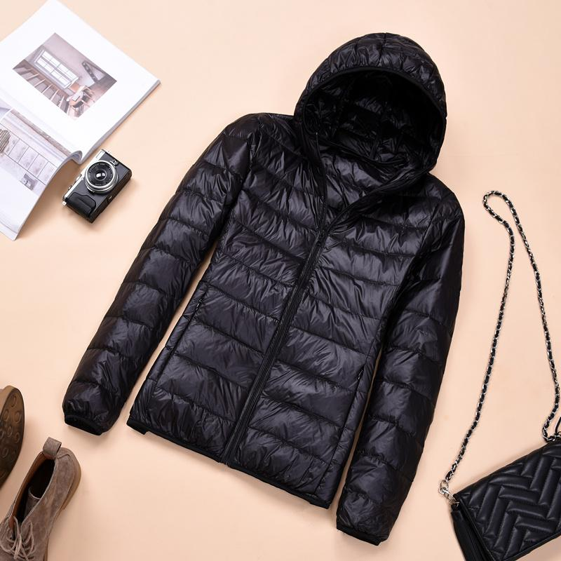 2018 Womens Autumn Jackets Fashion Ultra-thin with Hooded Ladies Slim Coats Plus Size 4XL 5XL 6XL 90% Duck Down Female Tops Coat 3