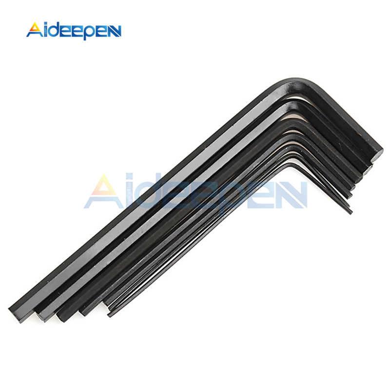 7 sztuk 0.7/0.9/1.3/1.5/2/2. 5/3mm imbusowy sześciokątny klucz imbusowy zestaw narzędzi narzędzia do naprawy roweru narzędzia do napraw ręcznych 0.7 MM-3 MM