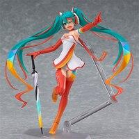 14cm Anime Hatsune Miku Figma SP 078 Racing Miku 2016 Ver.PVC Action Figure Collectible Model Kids Toys Doll Girl Christmas Gift