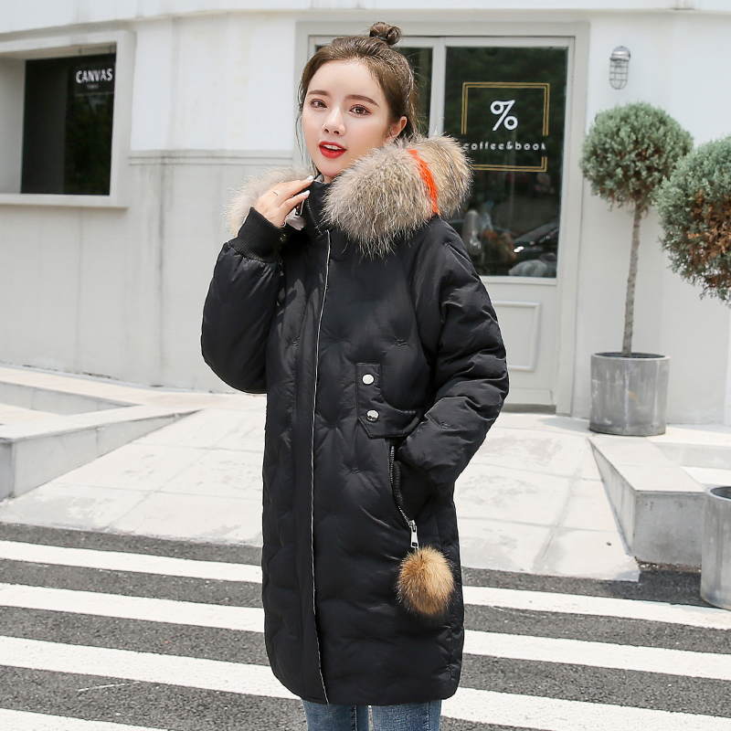 Women&39;s Jacket Large Size 2019 Female Long Hooded Fur Collar Parka_A3_4