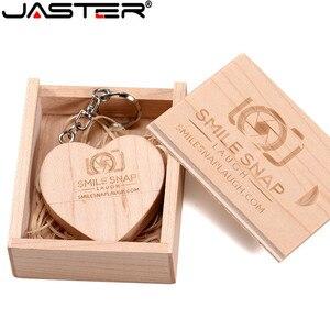 Image 5 - מעל 1pcs לוגו משלוח Fivestars לקנות Usb 2.0 לוגו מותאם אישית עץ לב צורת Usb דיסק און קי 8g/16g/32g/64g Usb Pendrive מתנה לחתונה