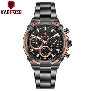 Image 2 - KADEMAN Luxury Brand Ladies Watch Fashion 3ATM Waterproof Quartz Watch For Female With Stainless Steel Belt Bayan Kol Saati 836