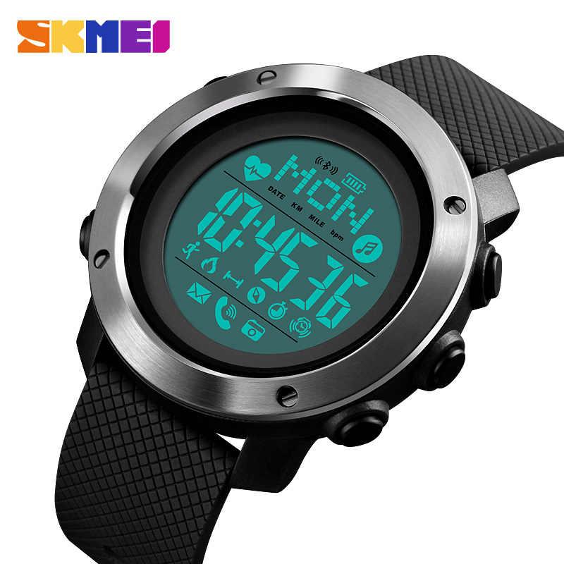 SKMEI Bluetooth Smartwatch Fitness Heart Rate Tracker Pedometer Call Remind Calorie Compass Smart Wristbands Intelligent Watch