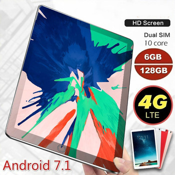 2020 Fashion Tablet with 6GB + 128GB Large Memory 10.1 Inch Screen Android 9.0 Tablet Ten Core 4G Wifi GPS Phone Pad