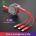 3 в 1 USB кабель для iPhone Samsung Xiaomi мульти зарядное устройство для быстрой зарядки с разъемом USB Type-C Type-c/Micro USB кабель для мобильный телефон