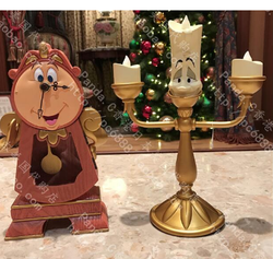 Beauty and the Beast  Candleholder, Lumiere Candlestick, Cogsworth Clock