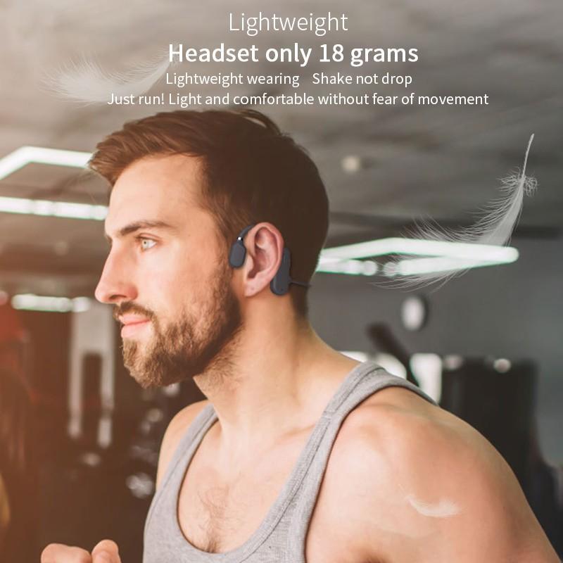 Bone Conduction Headphones Bluetooth Wireless Waterproof Comfortable Wear Open Ear Hook Light Weight Not In-ear Sports Earphones 5