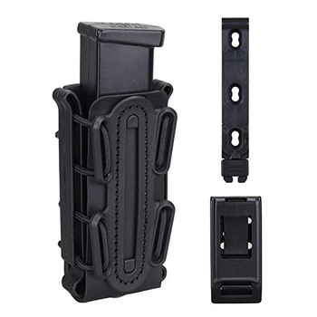 9mm Tactical Magazine Pouch Airsoft Hunting Shooting Holster Rifle Mag Pouch Holder Soft Shell Mag Carrier Bag With Belt Clip