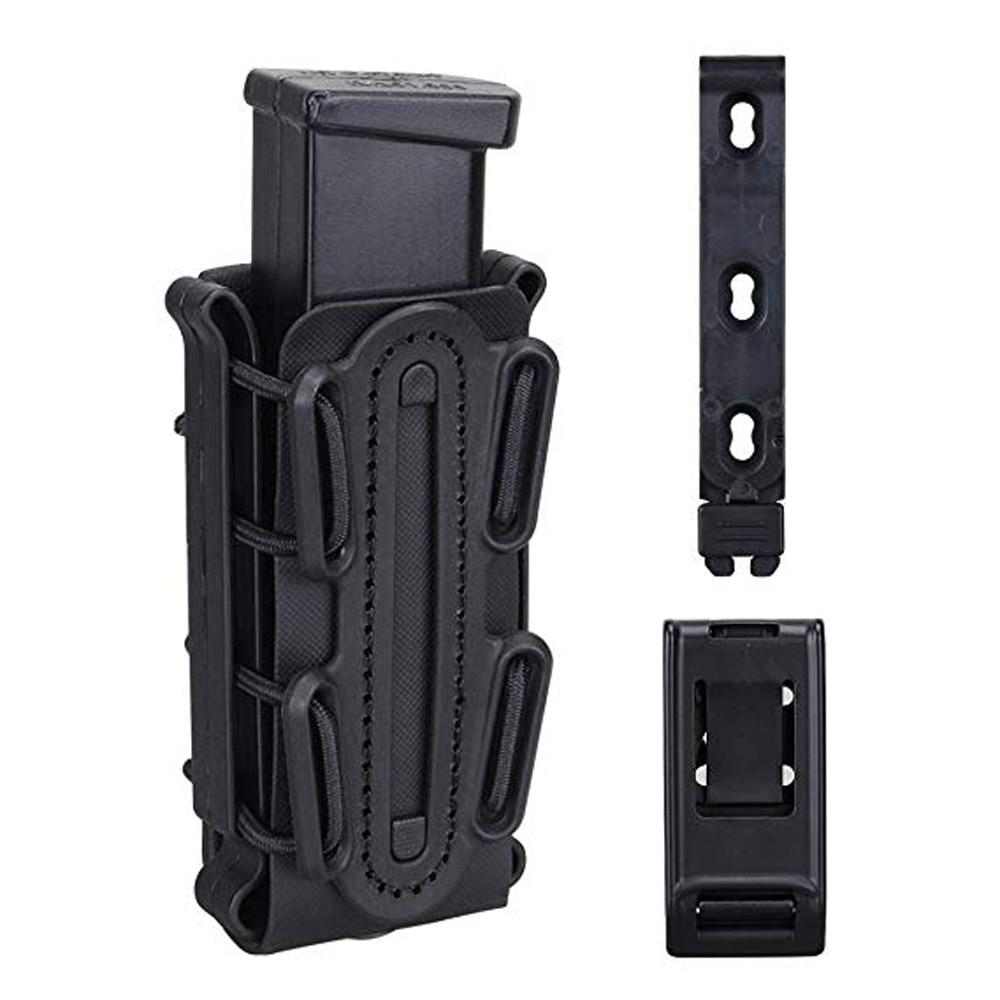 9mm pochette de magazines tactique Airsoft chasse tir étui fusil Mag support de pochette sac de transporteur de coquille souple avec pince de ceinture