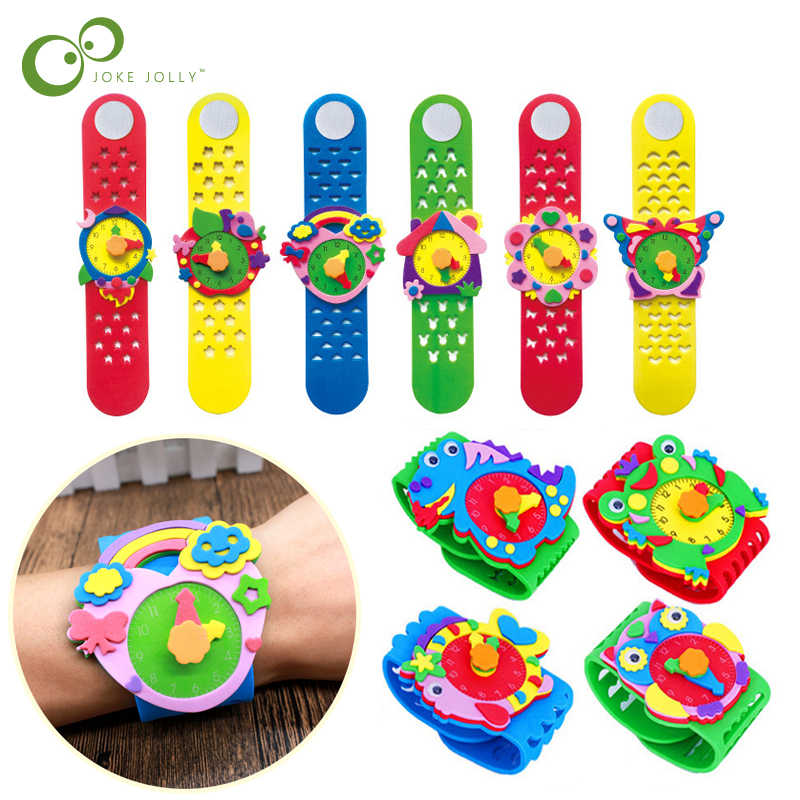 2019 New Toys DIY 3D EVA Foam Craft Sticker Handmade Watch Clock Learning Kids Kindergarten Educative Games Children Gift ZXH