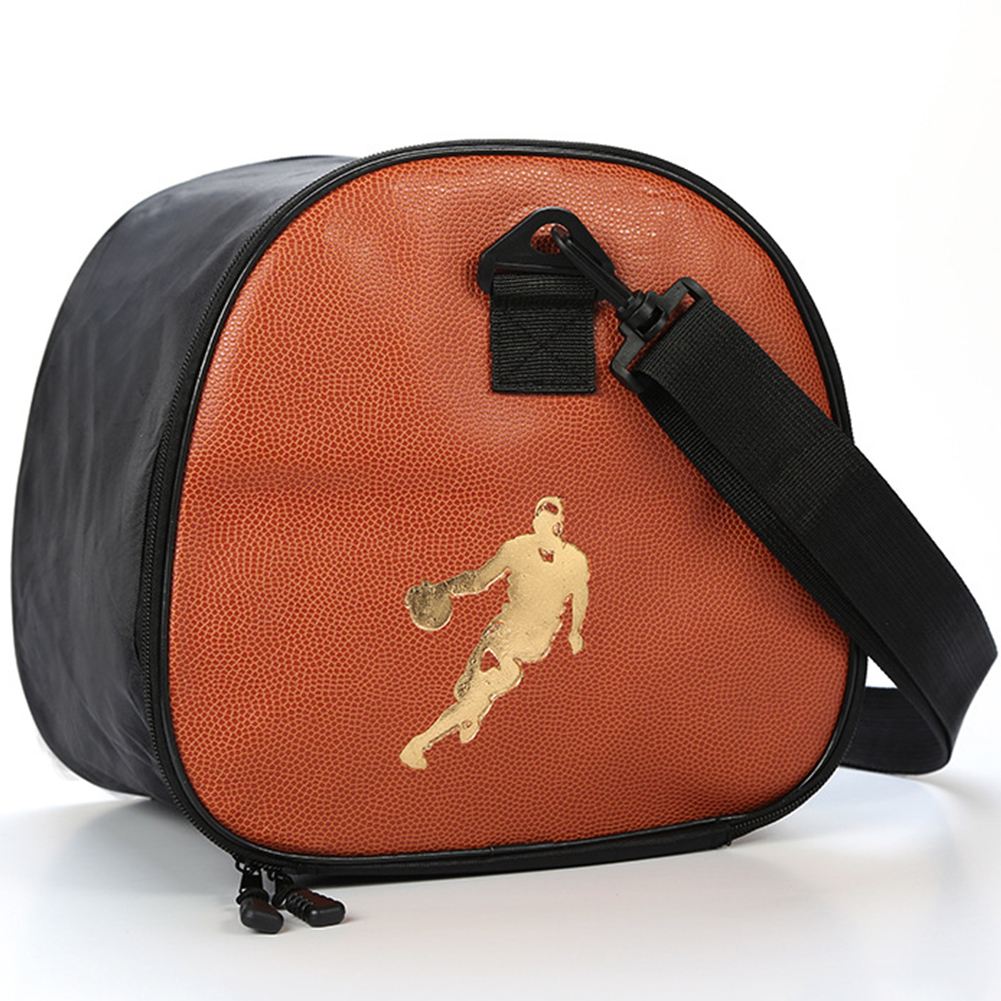 Detachable Strap Soccer Outdoor Basketball Bag Exercise Double Zipper Sports Single Shoulder Volleyball Accessories PU Leather