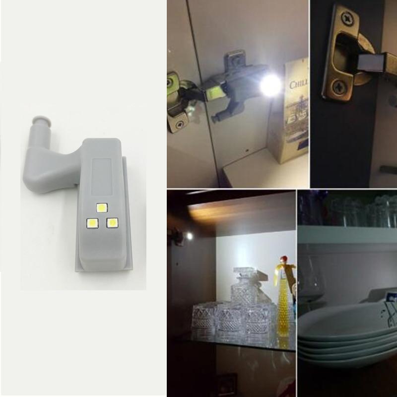 Universal Hinge LED Sensor Night Light For Kitchen Bedroom Living Room Cabinet Cupboard Closet Wardrobe Inner Emergency Lighting