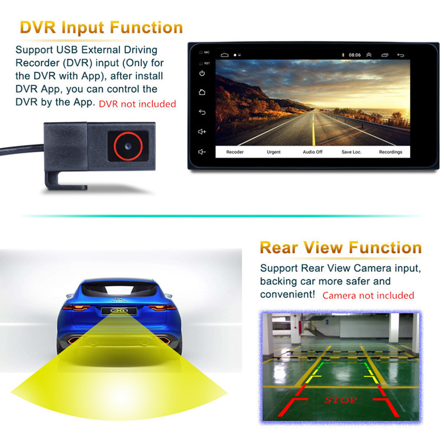 7 Android 8.1 Auto MP5 Speler Touch Screen QUAD core Wifi Verbinding GPS Navigatie DAB FM/AM radio Tuner voor TOYOTA - 3