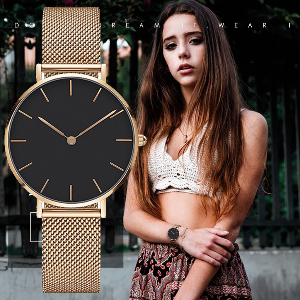 Lover's Watch womens watches Fashion Classic Luxury Leisure Stainless Steel Strap Quartz Watch ladies watch montre femme 2019