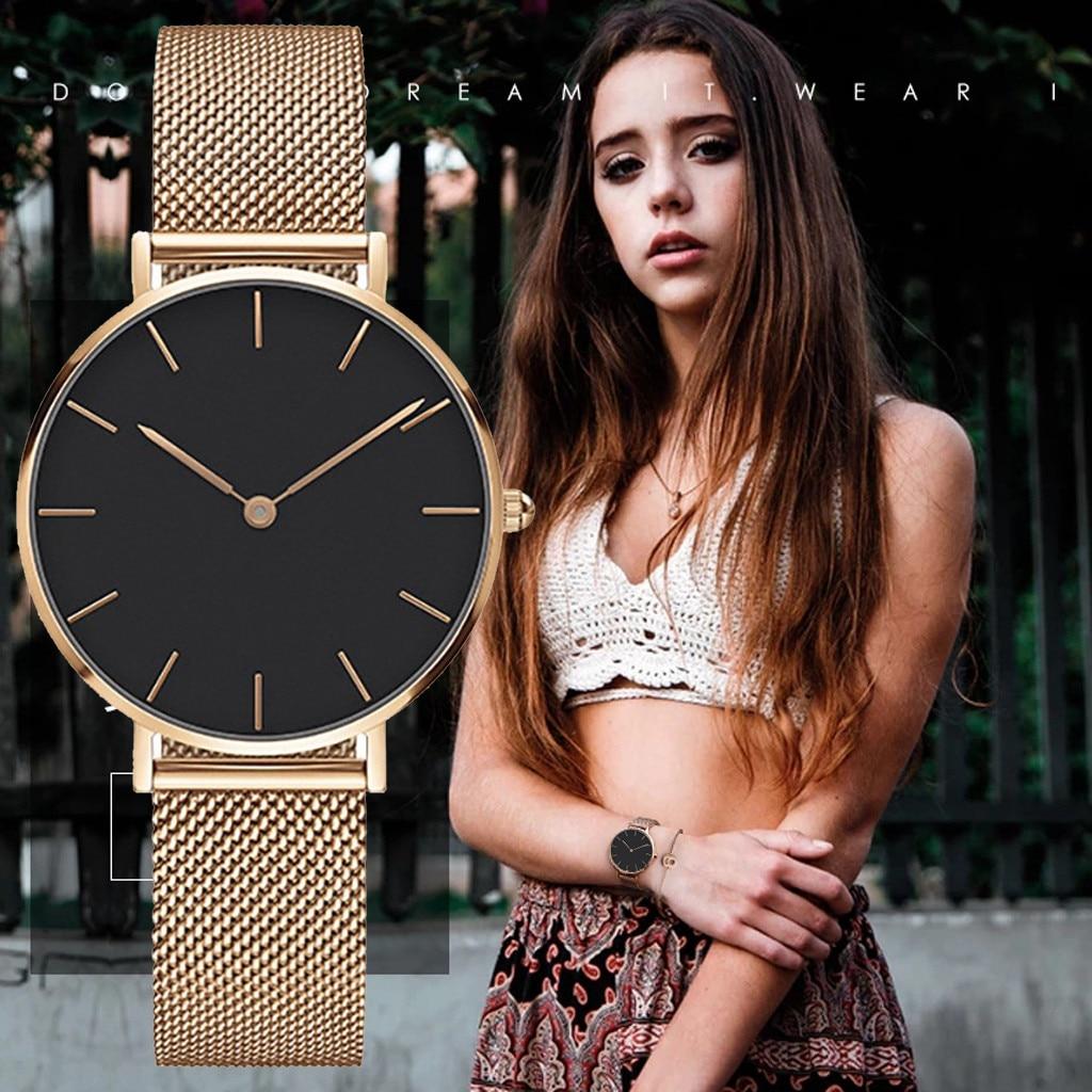Lover's Watch womens watches Fashion Classic Luxury Leisure Stainless Steel Strap Quartz Watch ladies watch montre femme 2019