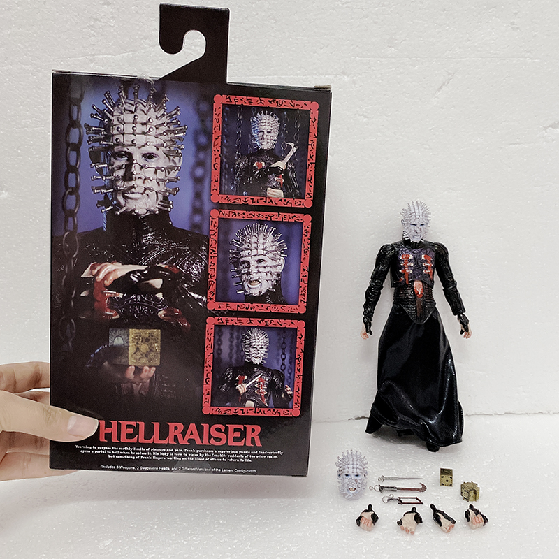 NECA Hellraiser Action Figures He'll Tear Your Soul Apart Ultimate Pinhead Action Figure Collectable Toy Gifts 18cm 7inch