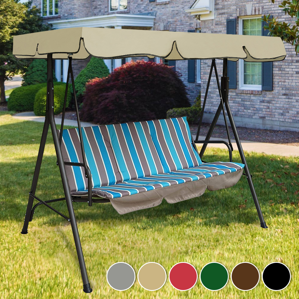Garden Swing Canopy Top Cover Waterproof Outdoor Swing Chair Hammock Canopy Roof Canopy Replacement Swing Chair Awning