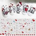 3D наклейки для дизайна ногтей на День святого Валентина с надписью Lover, милые Мультяшные ползунок для девочек, наклейки на телефон, аксессуа...