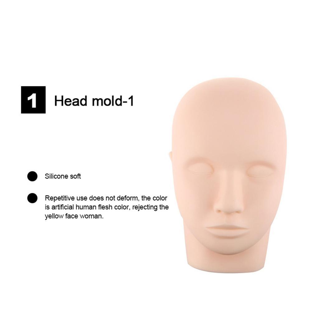 Cílios postiços extensão prática conjunto manequim cabeça