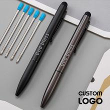 12 шт Заказная шариковая ручка с логотипом Роскошный многофункциональный