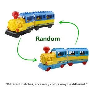 Image 3 - Marumine pil kumandalı Duplo oyuncak trenler yapı taşları çocuk eğitici oyuncak hediye çocuklar için elektrikli tren