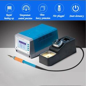 Image 2 - 75W lead free soldering station intelligent Digital temperature control T12 11 mobile phone pcb board welding BGA rework tools