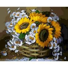 Gatyztory цветы diy живопись по номерам ручная роспись маслом