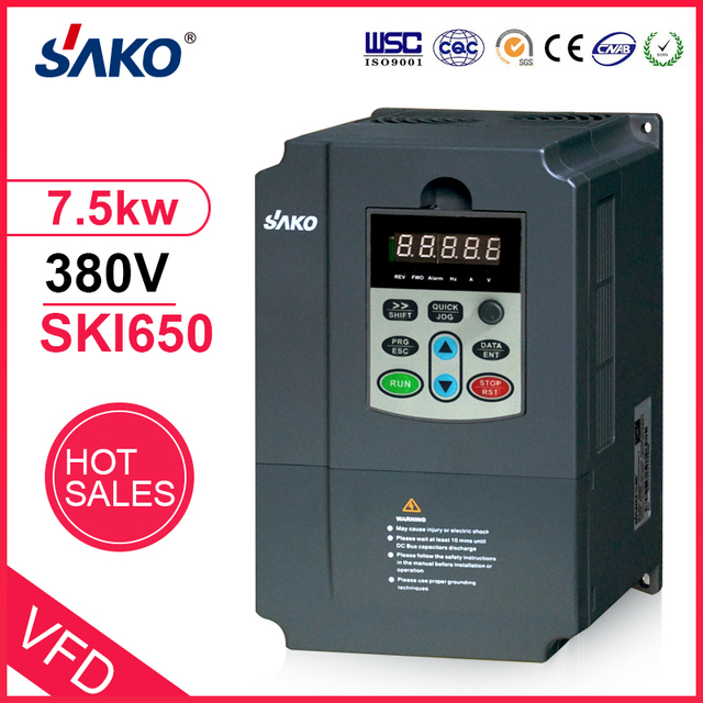 Inversor fotovoltaico sako vfd 380v 7.5kw, controlador de energia solar para uso de bomba