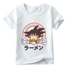Children Goku Eat Saiyan Ramen T Shirt Baby Summer Boys/Girls Anime Dragon Ball Z Top T Shirts Kids Cute Casual Clothes 2020 harajuku anime dragon ball z dbz 3d print bulma goku flying tshirt men women casual kawaii t shirt boys blue t shirt 5xl clothes