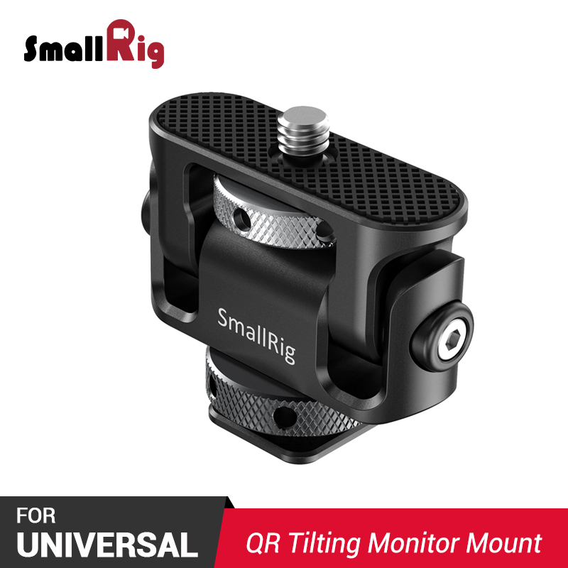 SmallRig Tilting Monitor Mount W/ Cold Shoe Quick Release EVF Mount Monitor Holder For Flash Light , Microphone DIY Options 2431